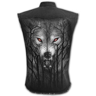 košile pánská bez rukávů (vesta) SPIRAL - FOREST WOLF - Black, SPIRAL