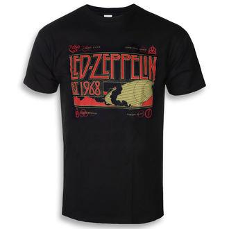 tričko pánské Led Zeppelin - Zeppelin & Smoke Black, NNM, Led Zeppelin