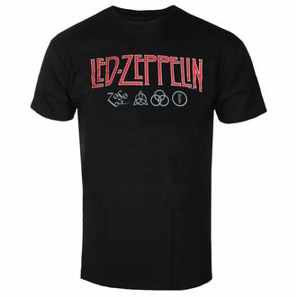 tričko pánské Led Zeppelin - Logo & Symbols - Black, NNM, Led Zeppelin