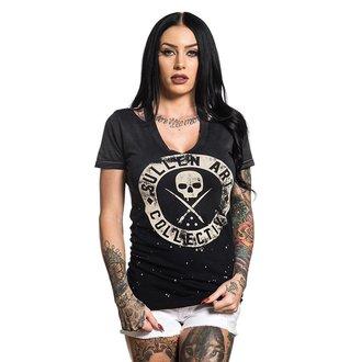 tričko dámské SULLEN - ROCKER - BLACK BLEACH SPRAY, SULLEN