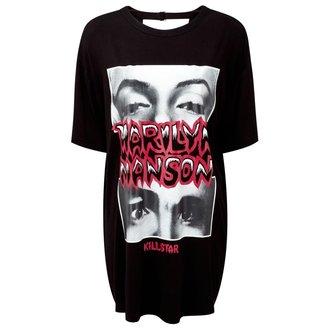 tričko dámské (tunika) KILLSTAR - MARILYN MANSON - Look Into My Eyes - Black - K-DRS-F-2509