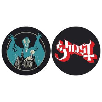podložka na gramofon (set 2ks) GHOST - OPUS EPONYMOUS - LOGO - RAZAMATAZ, RAZAMATAZ, Ghost