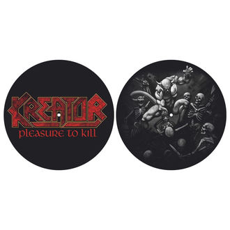 podložka na gramofon (set 2ks) KREATOR - PLEASURE TO KILL - RAZAMATAZ