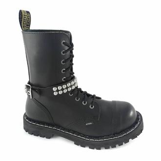 postroj na botu Leather boot strap whith rivets - bubble 2, Leather & Steel Fashion