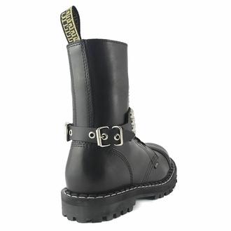postroj na botu Leather boot strap whith rivets - bubble 4, Leather & Steel Fashion