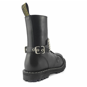 postroj na botu Leather boot strap whith rivets - bubble 5, Leather & Steel Fashion