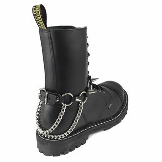 postroj na botu Baphomet rings Boot Strap, Leather & Steel Fashion