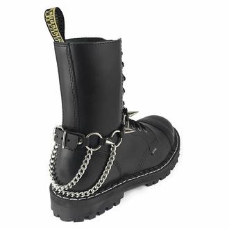 postroj na botu Inverted Cross rings Boot Strap, Leather & Steel Fashion