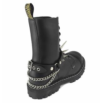 obojek kolem krku (postroj na botu) Big Spike Boot Strap, Leather & Steel Fashion