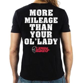tričko pánské LETHAL THREAT - MORE MILEAGE - BLACK, LETHAL THREAT