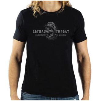 tričko pánské LETHAL THREAT - SKULL - BLACK, LETHAL THREAT