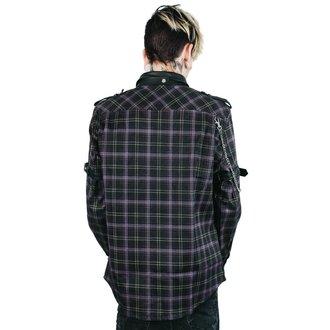 košile pánská KILLSTAR - Lux - TARTAN, KILLSTAR