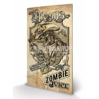 dřevěný obraz Alchemy (Zombie Juice) - Pyramid Posters