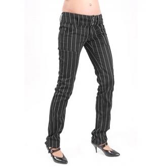 kalhoty dámské Mode Wichtig - Pretty Low-Cut Pin Stripe, MODE WICHTIG