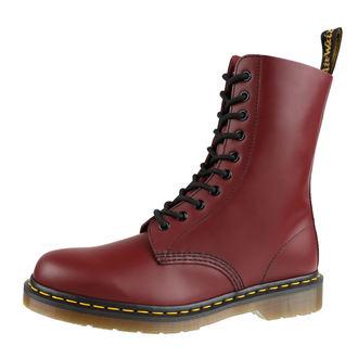 boty DR. MARTENS - 10 dírkové - 1490 Smooth - Cherry Red, Dr. Martens