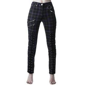 kalhoty dámské KILLSTAR - Mazzy Lace-Up - TARTAN, KILLSTAR