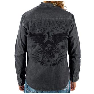 košile pánská LETHAL THREAT - MOTOR GEAR PISTON EAGLE SOLID, LETHAL THREAT