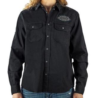 košile pánská LETHAL THREAT - MOTOR GEAR BUILD FOR GLORY- BLACK, LETHAL THREAT