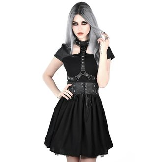 šaty dámské KILLSTAR - MIDNIGHT MUSE HARNESS - BLACK, KILLSTAR