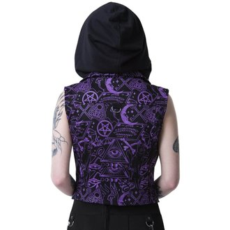 vesta dámská KILLSTAR - MISS MORBID CROPPED BIKER - BLACK, KILLSTAR