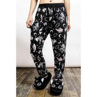 kalhoty dámské (pyžamo) KILLSTAR - Moonbow Lounge - Black, KILLSTAR
