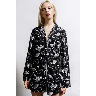 košile dámská (pyžamo) KILLSTAR - Moonbow Sleep - Black, KILLSTAR