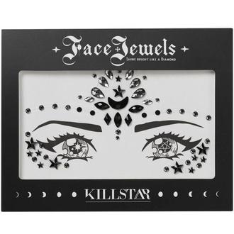 samolepící kamínky na obličej KILLSTAR - Moon Child - BLACK - KSRA001091