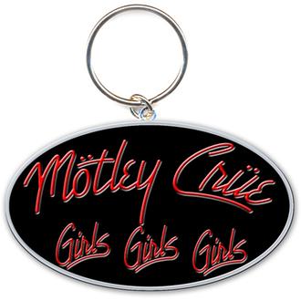 klíčenka - přívěšek Mötley Crüe (Girls, Girls, Girls Logo) - ROCK OFF, ROCK OFF, Mötley Crüe