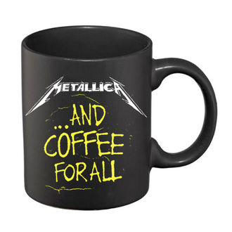 hrnek Metallica – And Coffee For All Matte - Black - RTMTLMUBCOF