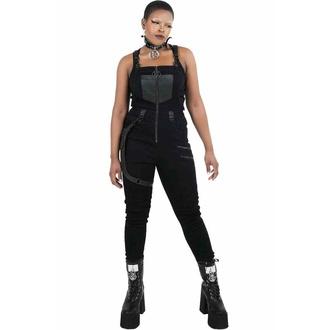 kalhoty dámské KILLSTAR - Nicolette Dungarees - Black, KILLSTAR