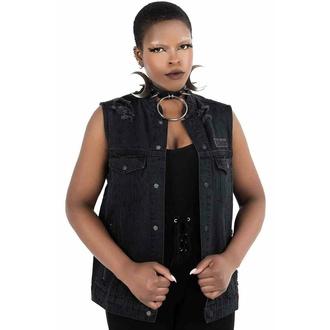 vesta (unisex) KILLSTAR - Nightrider Denim - BLACK, KILLSTAR
