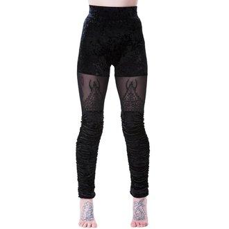 kalhoty dámské (legíny) KILLSTAR - NIGHTSHADE VELVET - BLACK, KILLSTAR