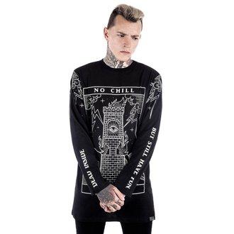 tričko pánské s dlouhým rukávem KILLSTAR - No Chill - Black, KILLSTAR