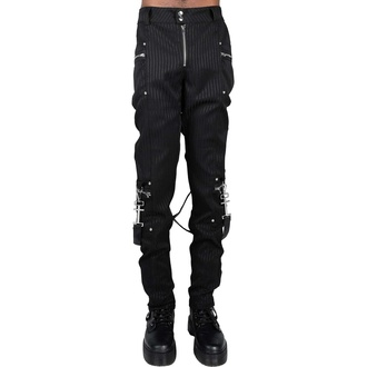 kalhoty pánské KILLSTAR - Office Riot Strappy - Pinstripe, KILLSTAR