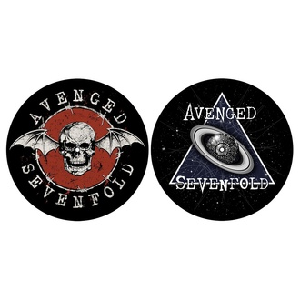 podložka na gramofon (set 2ks) AVENGED SEVENFOLD - SKULL / SPACE - RAZAMATAZ, RAZAMATAZ, Avenged Sevenfold