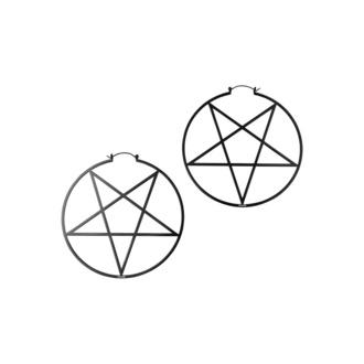 náušnice KILLSTAR - Pentagram Hoop - Black, KILLSTAR