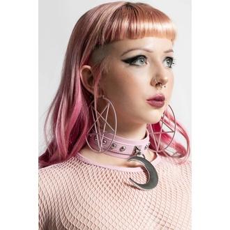 náušnice KILLSTAR - Pentagram Hoop - Pastel Pink, KILLSTAR