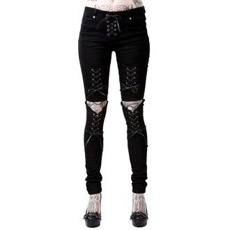 kalhoty dámské KILLSTAR - PHASED OUT JEANS - BLACK, KILLSTAR