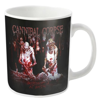 hrnek CANNIBAL CORPSE - BUTCHERED - White - PLASTIC HEAD, PLASTIC HEAD, Cannibal Corpse