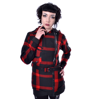 kabát dámský POIZEN INDUSTRIES - TILLY - BLACK/RED CHECK, POIZEN INDUSTRIES