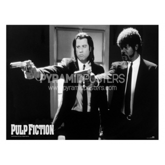 plakát - Pulp Fiction (B&W Guns) - PP31059, PYRAMID POSTERS, Pulp Fiction