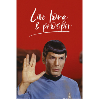 plakát STAR TREK - LIVE LONG AND PROSPER - PYRAMID POSTERS, PYRAMID POSTERS, Star Trek