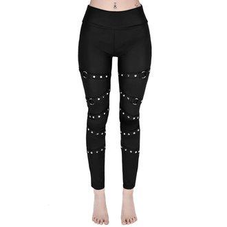 kalhoty dámské (legíny) KILLSTAR - PRETTY VACANT - BLACK, KILLSTAR