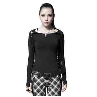 tričko dámské s dlouhým rukávem PUNK RAVE - Soliaris - black, PUNK RAVE
