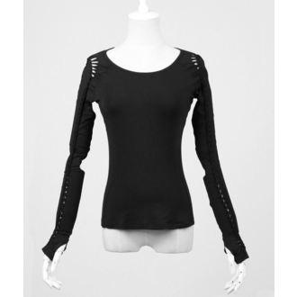 tričko dámské s dlouhým rukávem PUNK RAVE - Soliaris - black - PT-018-bk