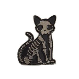připínáček KILLSTAR - Purr Bones - BLACK, KILLSTAR