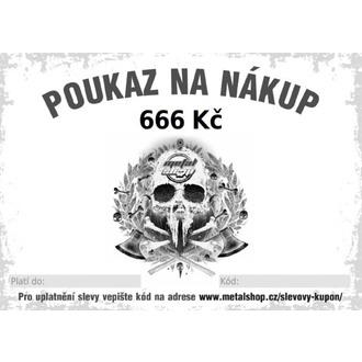 poukaz dárkový elektronický na 666 Kč