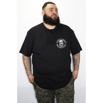 tričko pánské LETHAL THREAT - Loud Pipes Bandana Skull - Black - LT20263
