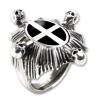 prsten Saint Ankou's Shield ALCHEMY GOTHIC