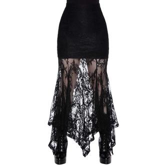sukně dámská KILLSTAR - Rosa Lace Maxi - Black, KILLSTAR